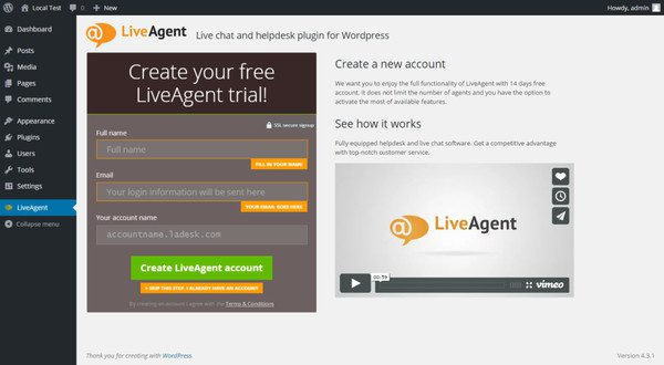 New LiveAgent WordPress plugin