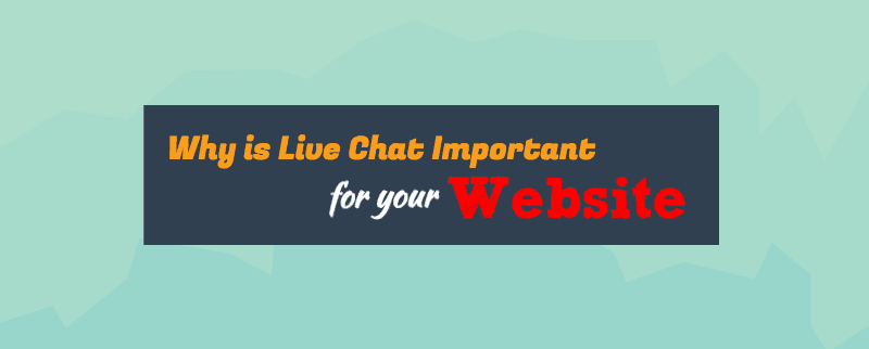 why is live chat important for your website infographics title