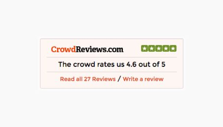 Crowd Reviews rating 4.6 out of 5