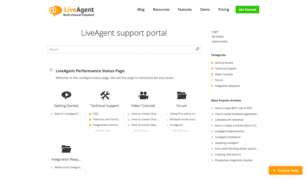 LiveAgent knowledge base