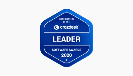 crozdesk liveagent leader software awards 2020