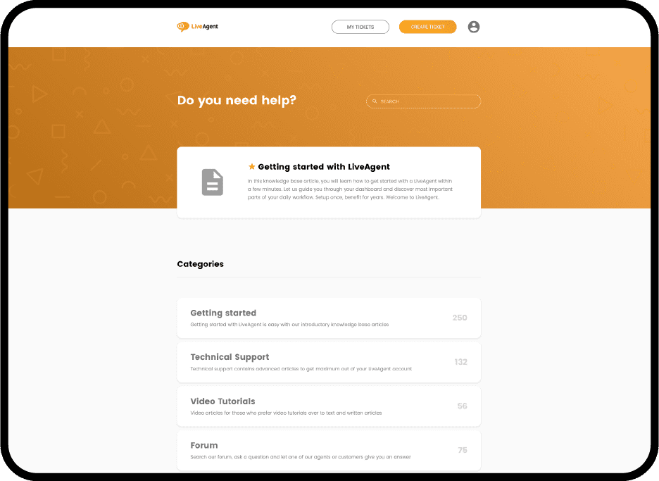 Knowledge Base Software by LiveAgent