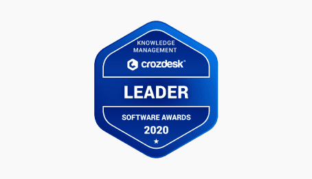 crozdesk leader knowledge management software