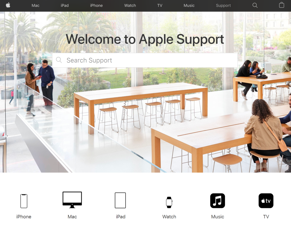 Apple customer portal