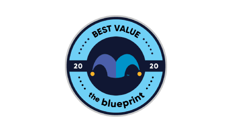 Blueprint best value in customer service category badge