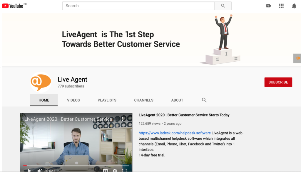 LiveAgent-YouTube channel