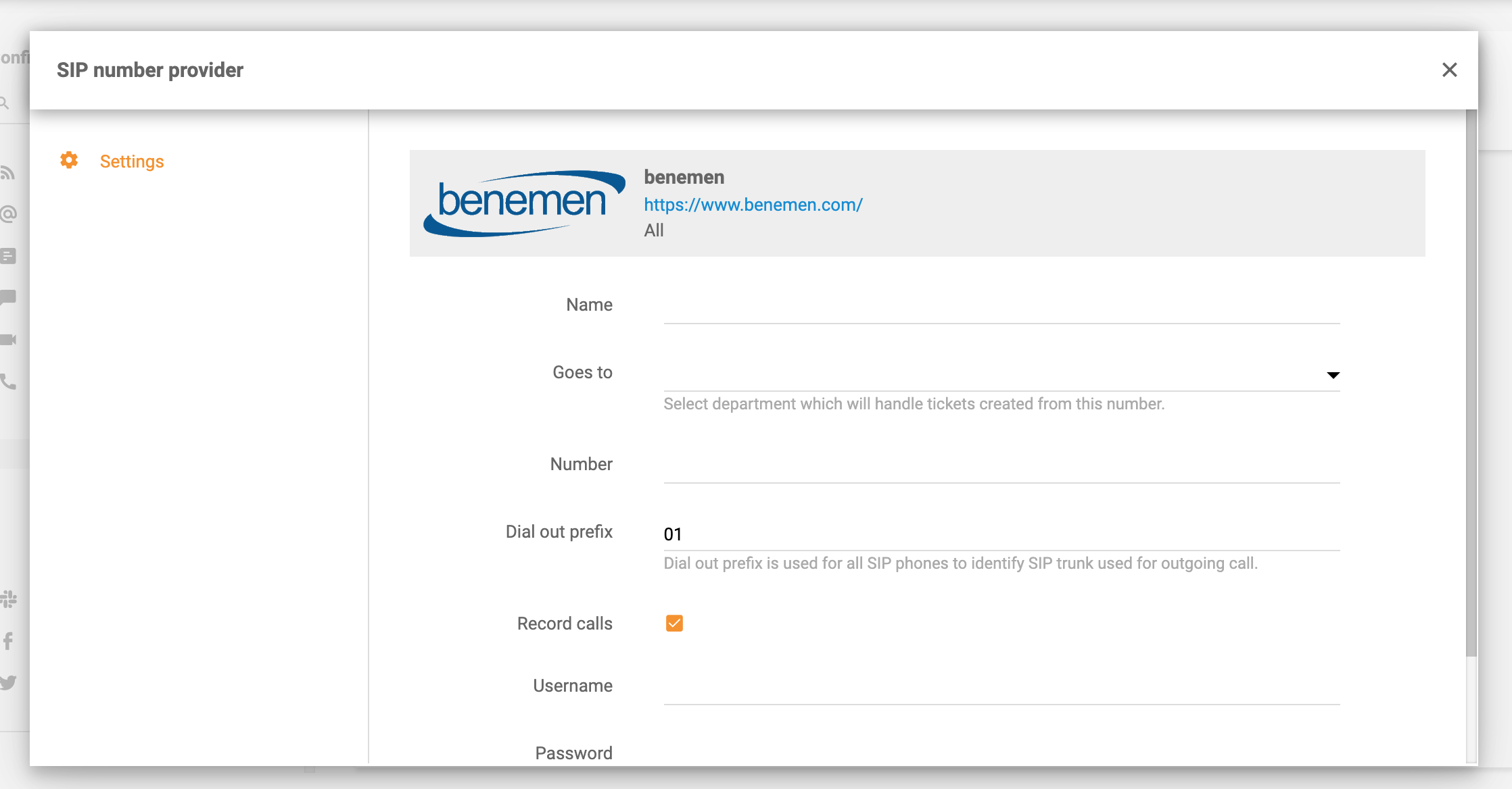 Benemen-integration-in-LiveAgent
