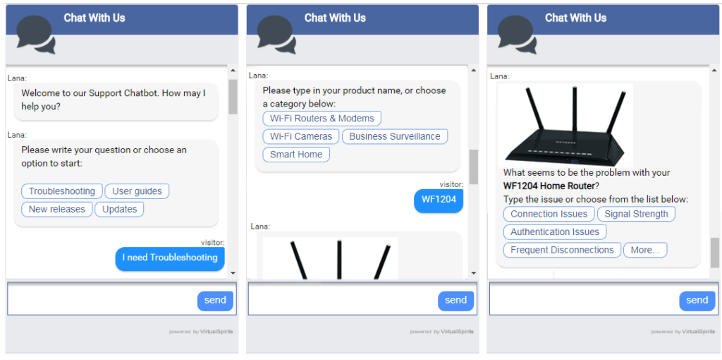 Chatbot - ongoing chat with customer