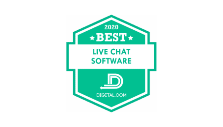 digital 2020 - the best live chat software badge