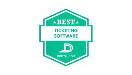 digital 2020 - the best ticketing software badge