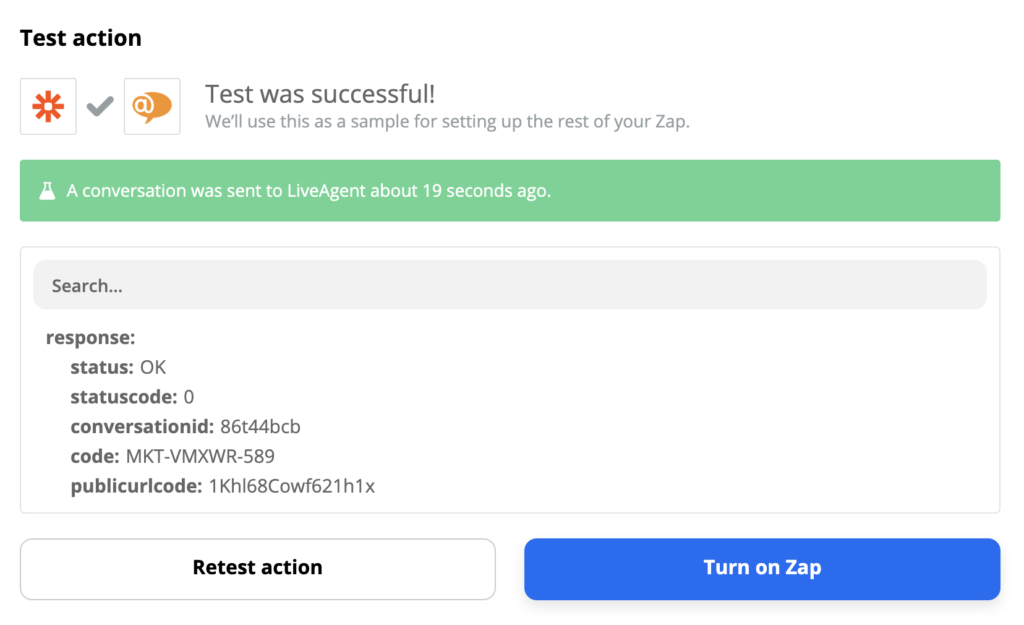 LiveAgent and Gmail successful test example