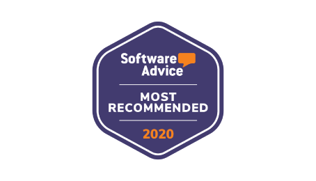 software advice most recommended customer engagement platform badge