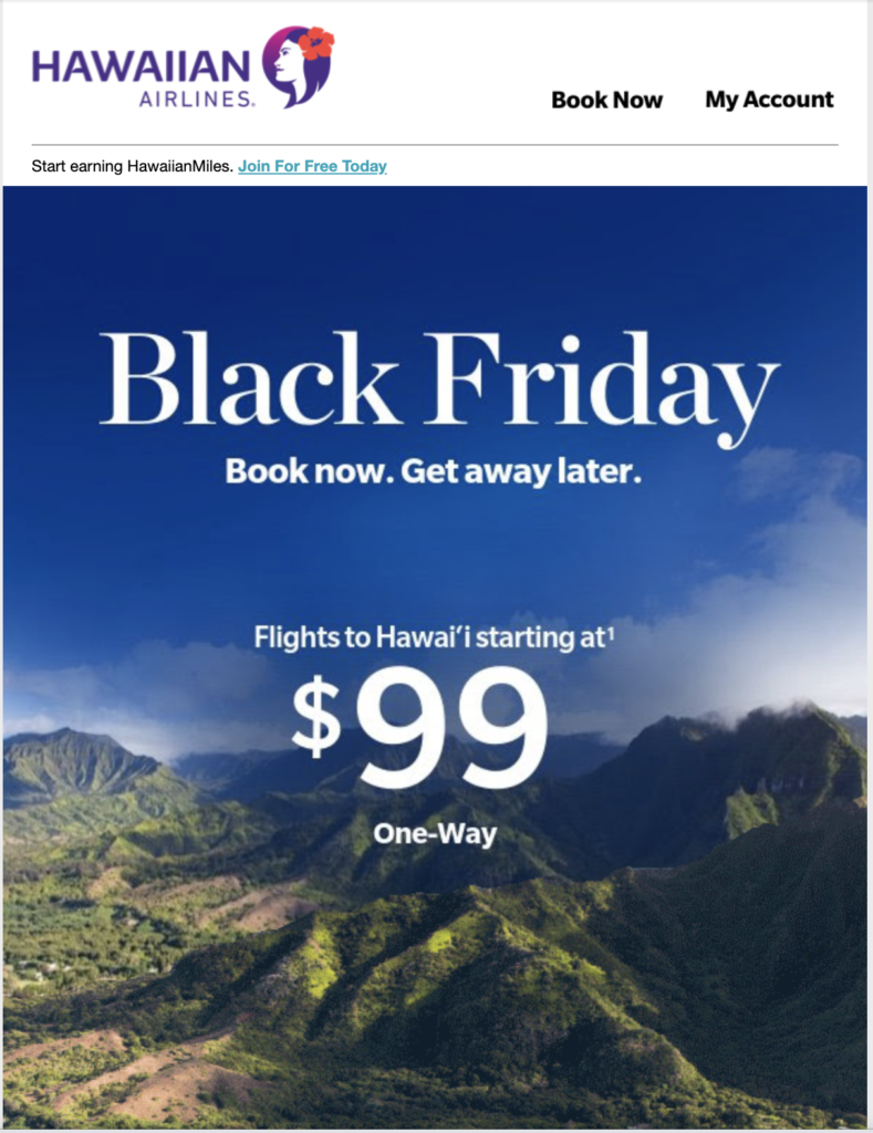 Hawaiian Airlines Black Friday