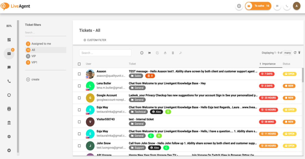 LiveAgent-Tickets-examples