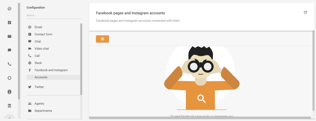 Adding an Instagram and Facebook account in LiveAgent