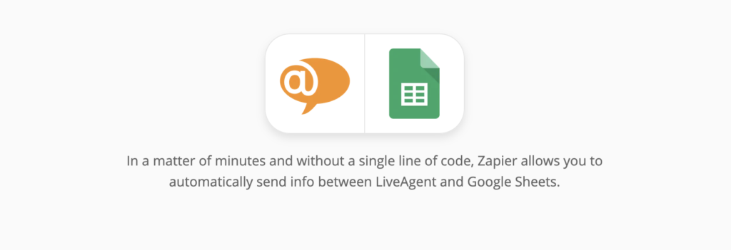 LiveAgent and Google Sheets integration on Zapier