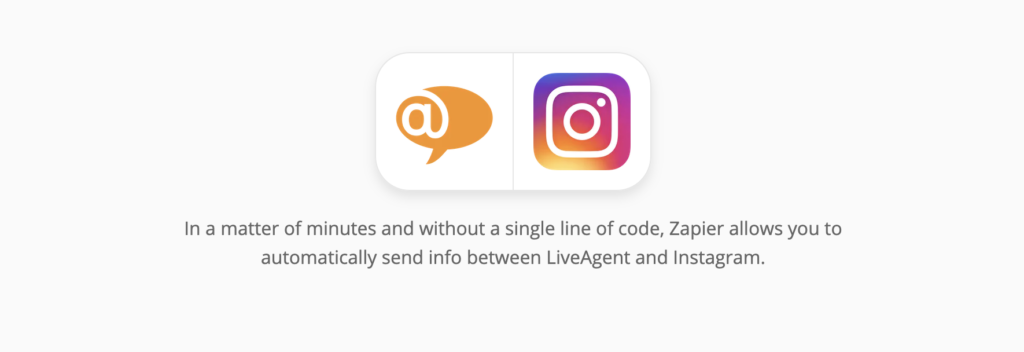 LiveAgent and Instagram integrations page on Zapier