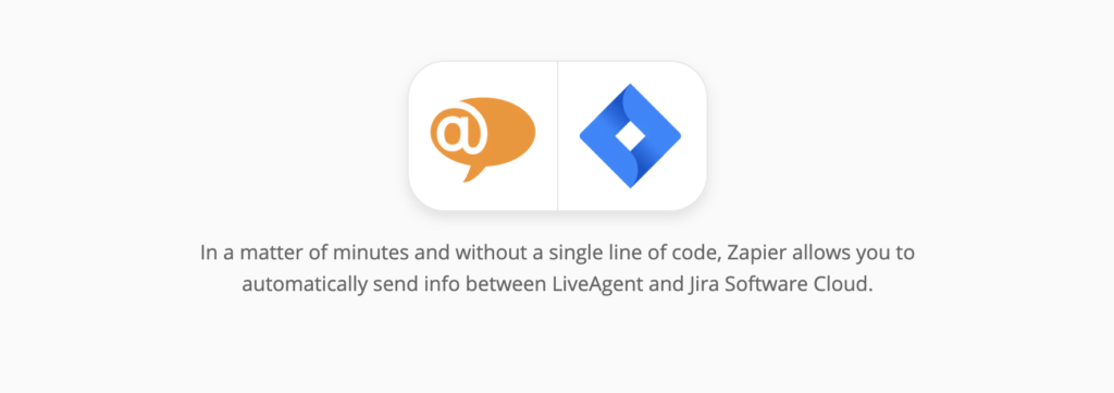 LiveAgent and Jira integration page on Zapier