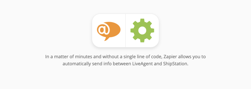 LiveAgent and ShipStation integration page on Zapier
