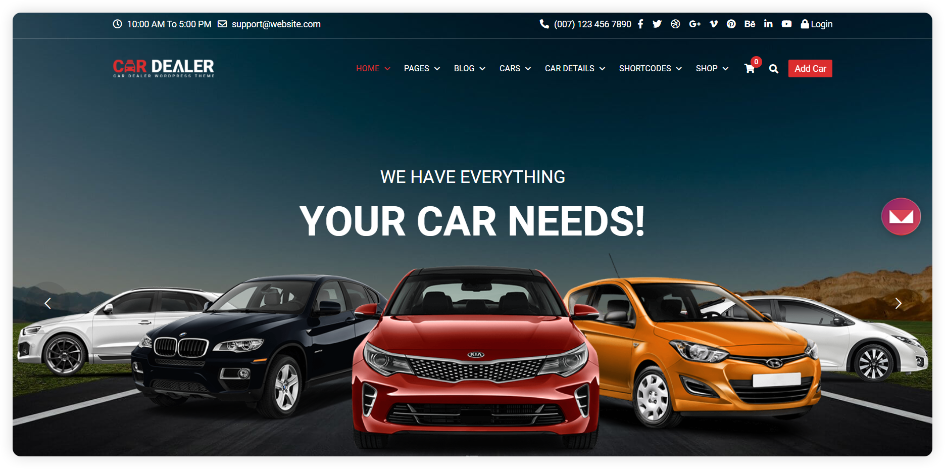 Live chat for the automotive industry