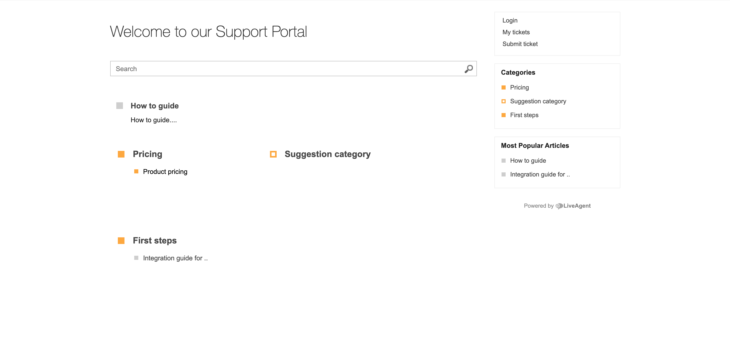 Open source knowledge base software theme in LiveAgent